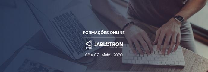 Formações Online 5 e 7 . Maio . 2020   C-TEC e JABLOTRON}