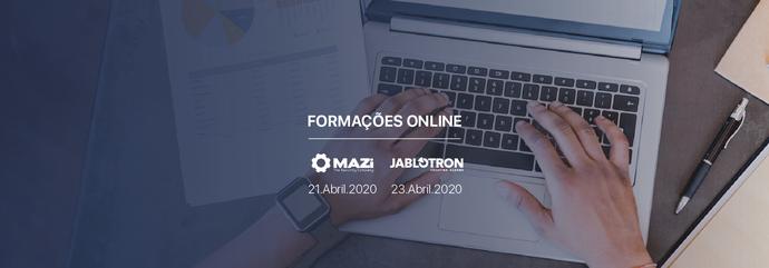 Formações Online IVV   Mazi e Jablotron   Próxima semana}